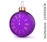 midnight last hour christmas... | Shutterstock . vector #1145534678
