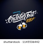 oktoberfest handwritten... | Shutterstock .eps vector #1145536442