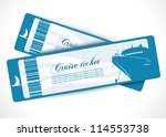 cruise ship tickets   vector... | Shutterstock .eps vector #114553738