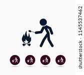 bonfire icon. simple camp... | Shutterstock .eps vector #1145537462