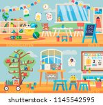 back to school banner... | Shutterstock .eps vector #1145542595