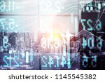 stock market data on digital... | Shutterstock . vector #1145545382