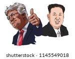 july 30 2018 caricature of u.s.... | Shutterstock . vector #1145549018