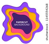 colorful paper cut background | Shutterstock . vector #1145554268