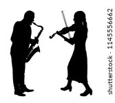 silhouettes a musician playing...   Shutterstock . vector #1145556662