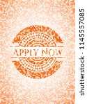 apply now abstract orange... | Shutterstock .eps vector #1145557085