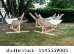 garden hammock for rest in the...   Shutterstock . vector #1145559005