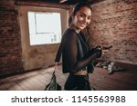 portrait of a young woman in... | Shutterstock . vector #1145563988