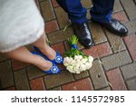 wedding shoes and wedding... | Shutterstock . vector #1145572985