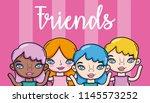 youth girl cartoon   Shutterstock .eps vector #1145573252