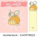 set of vector cartoon... | Shutterstock .eps vector #1145578022
