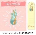 set of vector cartoon... | Shutterstock .eps vector #1145578028