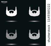 garibaldi beard style. beard... | Shutterstock .eps vector #1145585222