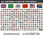 all national flags of the world ... | Shutterstock .eps vector #1145588738