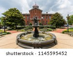 unique city hall building in... | Shutterstock . vector #1145595452