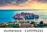 aerial summer cityscape of... | Shutterstock . vector #1145596262
