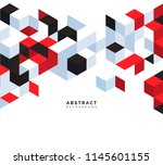 abstract background with red... | Shutterstock .eps vector #1145601155