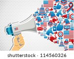 us elections politics marketing ... | Shutterstock .eps vector #114560326