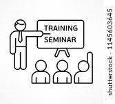 training seminar linear... | Shutterstock .eps vector #1145603645