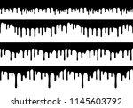 set of vector seamless drip... | Shutterstock .eps vector #1145603792