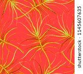 watercolor tropical seamless... | Shutterstock . vector #1145607635