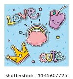 set of cute and lovely cartoons | Shutterstock .eps vector #1145607725