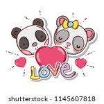 cute and lovely animals card | Shutterstock .eps vector #1145607818