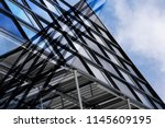 abstract modern architecture.... | Shutterstock . vector #1145609195