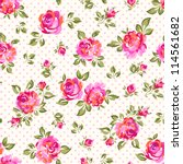 little rose seamless background | Shutterstock .eps vector #114561682