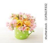 flowers in a vase | Shutterstock . vector #1145619332