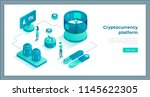 cryptocurrency exchange and... | Shutterstock .eps vector #1145622305