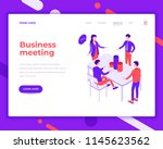 business meeting people and... | Shutterstock .eps vector #1145623562