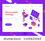 renewable energy people and... | Shutterstock .eps vector #1145623565