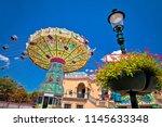 prater fun park carousel in... | Shutterstock . vector #1145633348