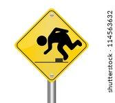 yellow rhombus road sign for... | Shutterstock . vector #114563632