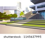 modern office building stairs... | Shutterstock .eps vector #1145637995
