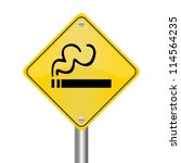 yellow rhombus road sign for... | Shutterstock . vector #114564235