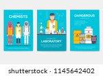 biohazard chemists brochure... | Shutterstock .eps vector #1145642402