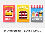 sweet for party or wedding...   Shutterstock .eps vector #1145642432