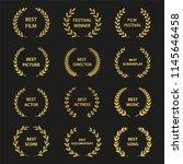 golden vector laurel wreaths on ...   Shutterstock .eps vector #1145646458