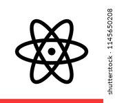 atom vector icon  react native... | Shutterstock .eps vector #1145650208