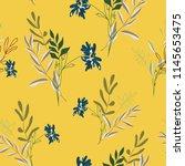 blossom floral seamless pattern....   Shutterstock .eps vector #1145653475