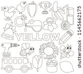 yellow colorless objects color... | Shutterstock .eps vector #1145662175