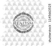 realism realistic grey emblem... | Shutterstock .eps vector #1145663525