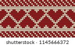 knitted pattern on a red... | Shutterstock .eps vector #1145666372