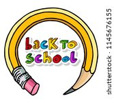 hand drawn vector doodle back... | Shutterstock .eps vector #1145676155