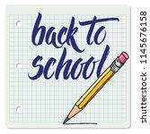 hand drawn vector brush... | Shutterstock .eps vector #1145676158