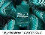 curve lines background. vector... | Shutterstock .eps vector #1145677328