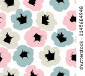 seamless floral pattern with... | Shutterstock .eps vector #1145684948