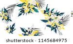 seamless floral pattern with... | Shutterstock .eps vector #1145684975